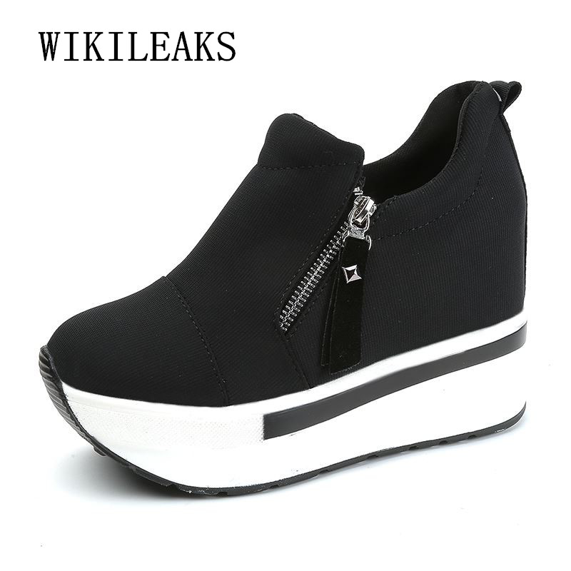 new women's vulcanize shoes height increasing womens shoes platform sneakers tenis feminino wedges shoes for women zapatos mujer
