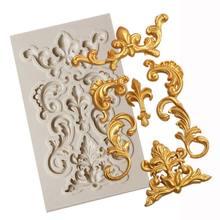 1ピースボーダーシリコーン型フォンダンモールドケーキデコレーションツールチョコレートgumpaste金型ケーキデコレーションツール