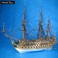Комплект Модель корабля Взрослых Diy Масштаб 1:50 3d Лазерная Резка Деревянные модели кораблей Модели Дети Деревянные Лодки Развивающие Игры для Детей Сан-Фелипе