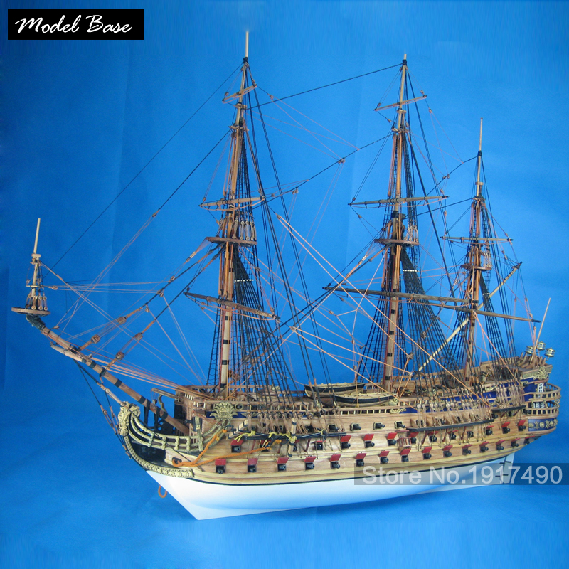 Ship Model Kit Adult Diy Scale 1:50 3d Laser Cut Wooden Ships model Kids Models Wood Boats Educational Games Children San Felipe hasegawa model 1 24 scale civil models 20263 focus rs wrc 04 plastic model kit