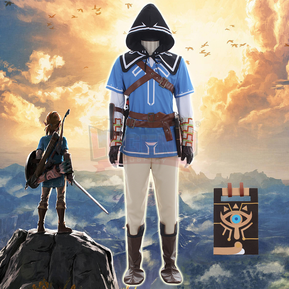 zelda breath of the wild The Legend of Zelda: Breath of the Wild Link Cosplay adult costume Custom Made full set All size аксессуар luazon 1044909 знак аварийной остановки