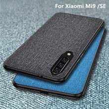For Xiaomi mi 9 Case Mi SE cover Luxury Fabric Cloth Shockproof Back Cover mi9 case Fundas Shell