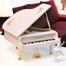 X-Big Size Swan ballet dancing piano music box music box birthday gift Creative Six songs Continuous Play
