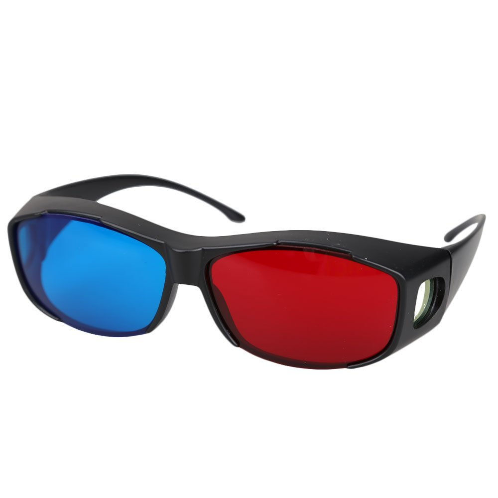 5pairs Red+Blue Plasma TV Movie Dimensional Anaglyph 3D Vision Glasses (Anaglyph Frame) Black