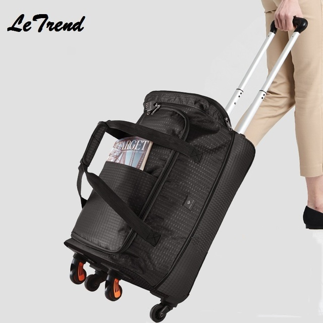 New Fashion 24 inch Waterproof Backpack Travel Bag Casters Trolley Carry On Wheels Women Multi-function Bag