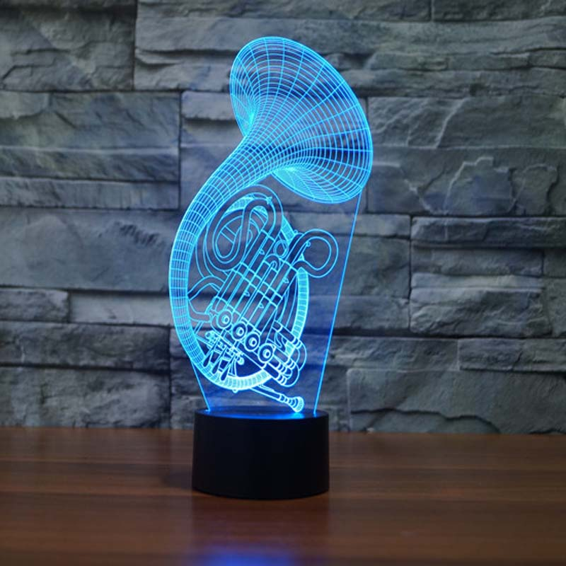 Cute Sax Night Light Designs Novelty Gifts Led Table lamp for boys Girls
