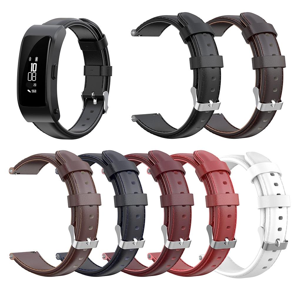 Watchband For Huawei B3 WAX PAPER Watch 16mm Width Oil Wax Leather Watch Strap Wristband Bracelet Adjustable