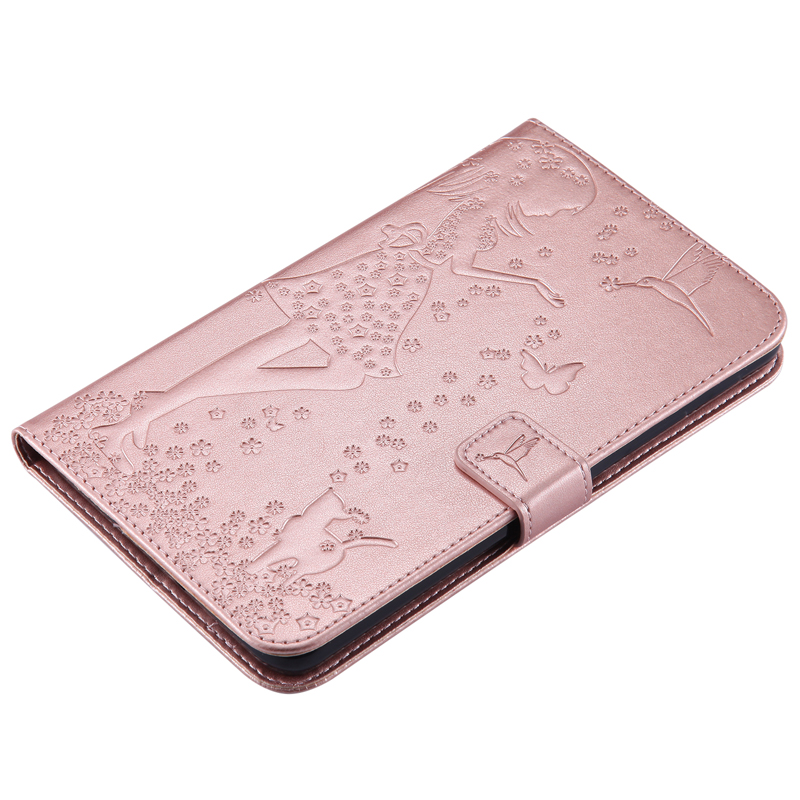 Tablet SM T280 T285 Funda Capa For Samsung Galaxy Tab A 7 0 Luxury Lady Cat Leather Wallet Flip Case Cover Coque Shell Stand in Tablets e Books Case from Computer Office