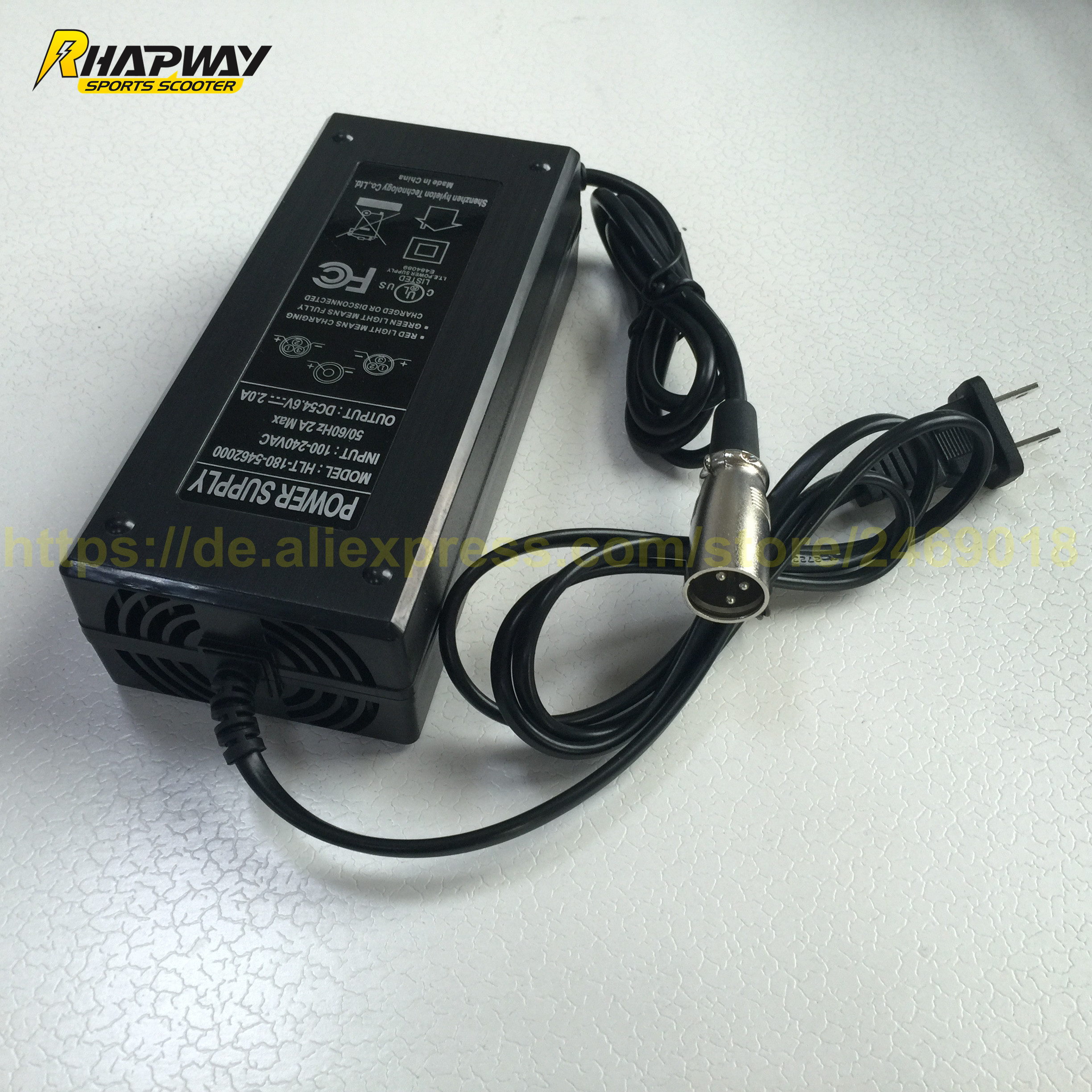 546V 2A Lithium Battery ChargerLithium Electric Scooter