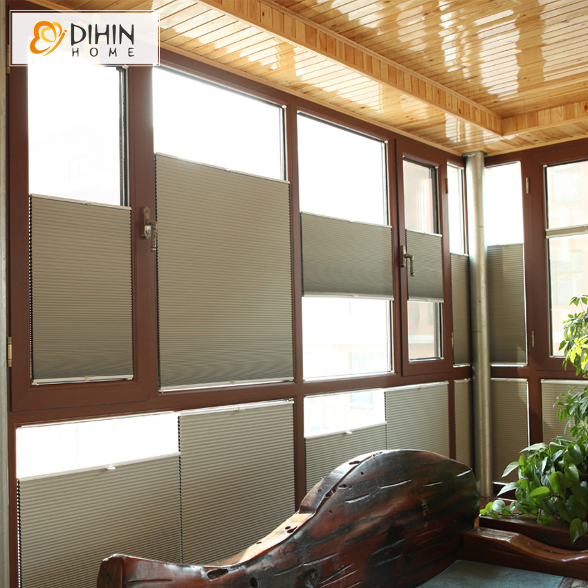 DIHIN HOME Free Shipping Russia NZ Australia Blackout Cellular Honeycomb Blinds Shades Curtain For Living Room