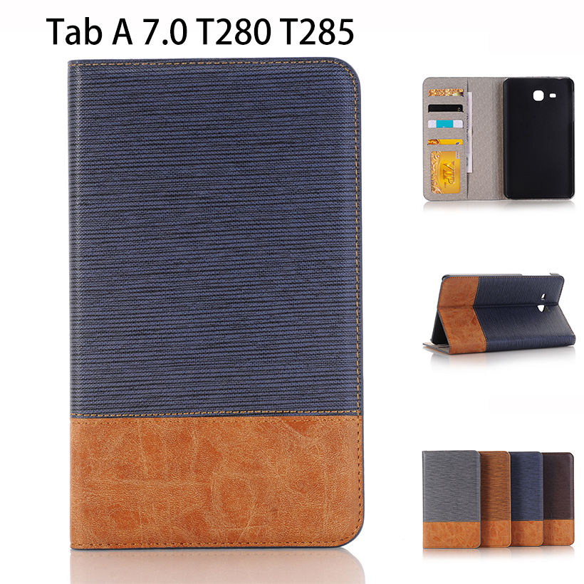 Flip PU Leather Case For Samsung Galaxy Tab A A6 7.0 2016 SM-T285 SM-T280 T280 T285 Cover Tablet Case Funda business Shell Skin luxury pu leather silicon case for samsung galaxy tab 3 8 0 sm t310 t311 t315 case cover funda fashion tablet flip stand shell