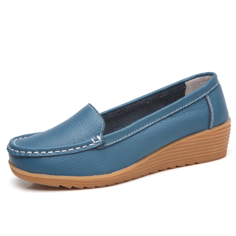 Women Flats Women Genuine   Leather   Shoes With Heels Women Loafers Soft Mocassin Femme   Leather   Flat Shoes Women Casual Shoes