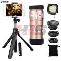 Fisheye Wide Angle Macro Lentes 10X Zoom Telephoto Optical Zoom Telescope Lens Tripod Shutter For Xiaomi