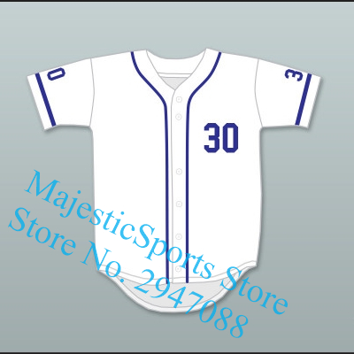 Benny  The Jet  Rodriguez 30 Baseball Jersey The Sandlot Gray White Jersey f8c214ae4