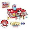 Pikachu pokemon figuras de juguete bloques de construcción modelo de centro médico de generaciones bokemon ladrillos decool juguetes conjunto