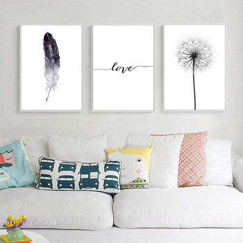 Dandelion & Feather Wall Art
