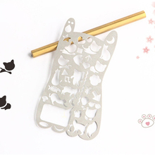 Novelty Various Cat Hollow-Out Metal Drawing Template Ruler Promotional Gift Stationery free shipping