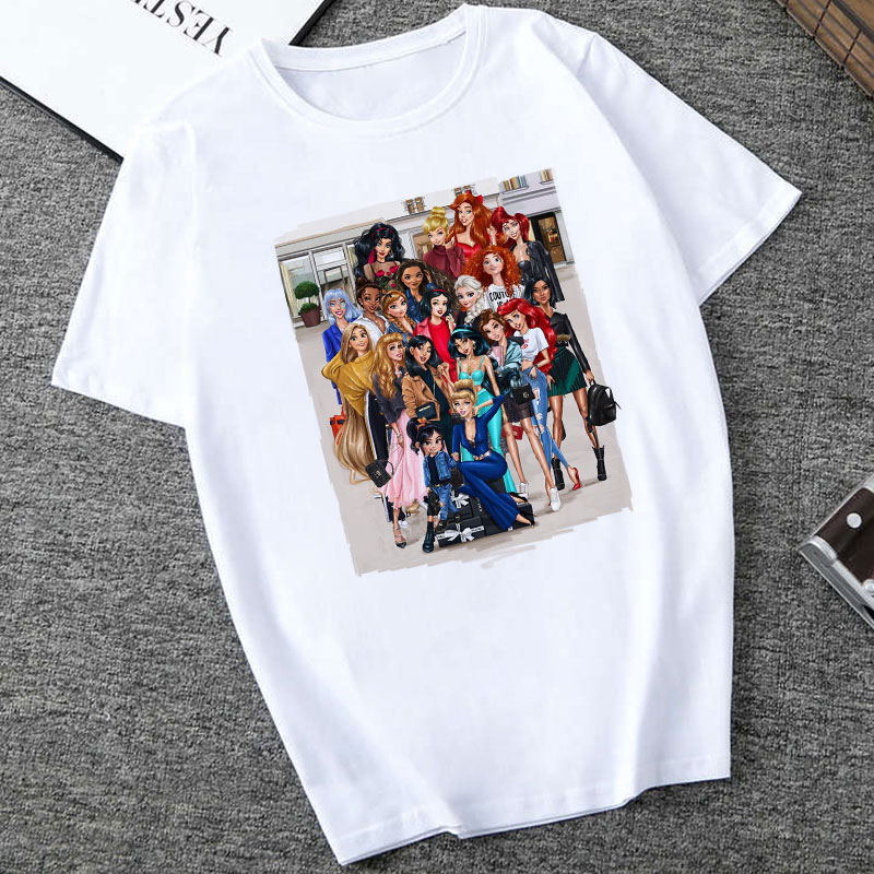 CZCCWD Summer Top Camisetas Verano Mujer 2019 Harajuku Fashion Vogue Princess T Shirt Women Leisure Streetwear Female T-shirt image