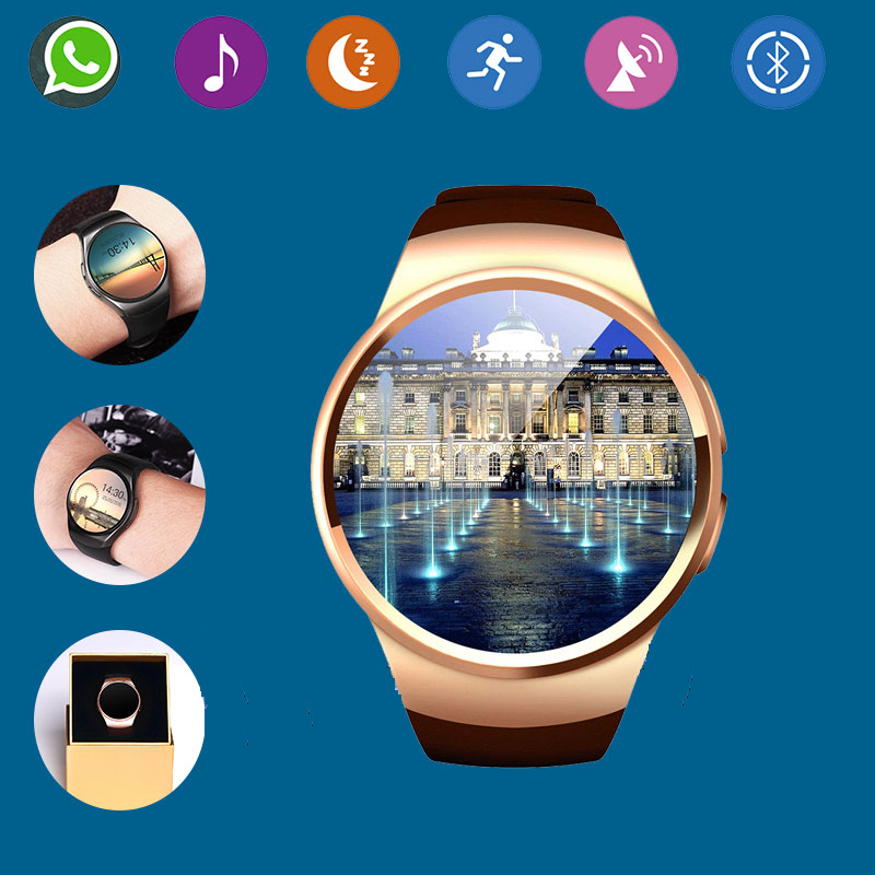 ФОТО 2016 Hot Bluetooth Smart Watch Phone KW18 Sim And TF Card Heart Rate Reloj Smartwatch Wearable App For IOS Android mp3