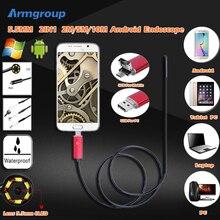 5.5 мм 2In1 2 М/5 М/10 М 6 Светодиодов USB IP67 Водонепроницаемый Эндоскопа Бороскоп Змея Пробки камера Android Телефон ПК Инспекции Эндоскопа Cam
