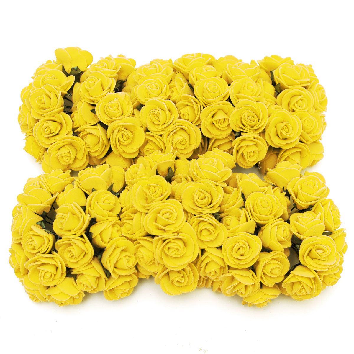 144 Pcs/bag Artificial Flowers Foam Rose Bouquet Wedding Decoration ...