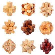 IQ мозговой тизер Kong Ming Lock Lu Ban Lock 3D деревянные переплетенные головоломки игра игрушка для взрослых детей