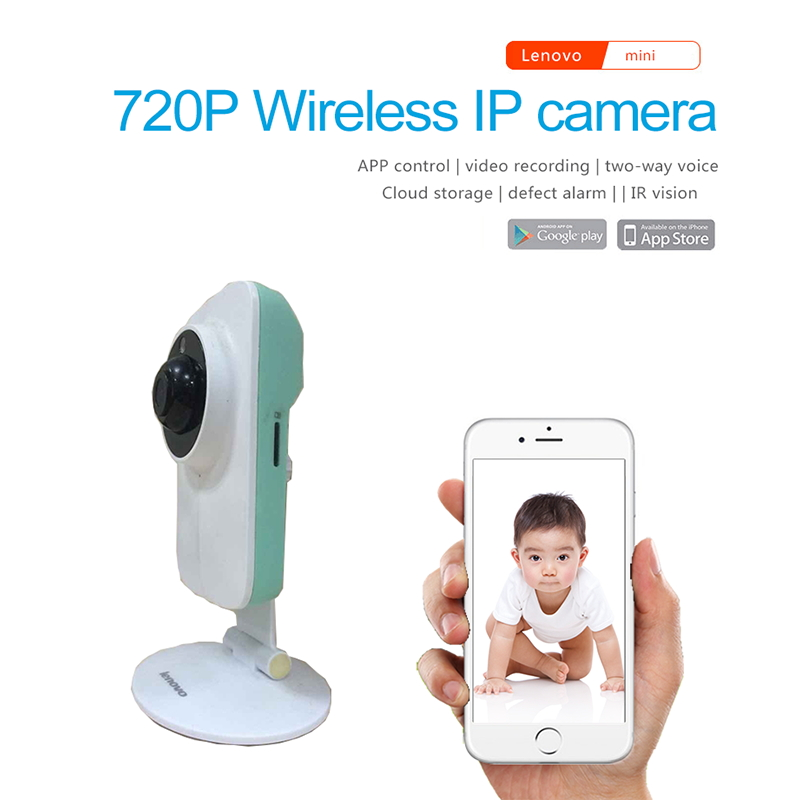 Lenovo WiFi IP Camera Mini 720P Monitor Video Surveillance smart cctv security remote Camera watch baby