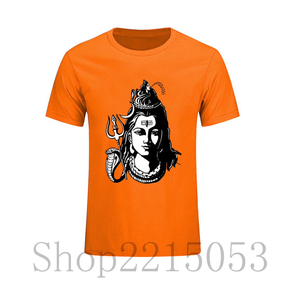 Discount 2017 Funny Hindu Shiva The God T Shirt Men Short Sleeved T-shirts  Premium 178e4032e