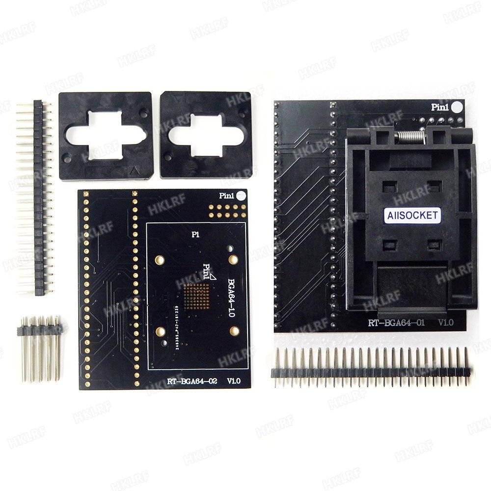 BGA64 adapter for RT809H Programmer SOCKET RT BGA64 1 1 0mm ADAPTER 11 13mm