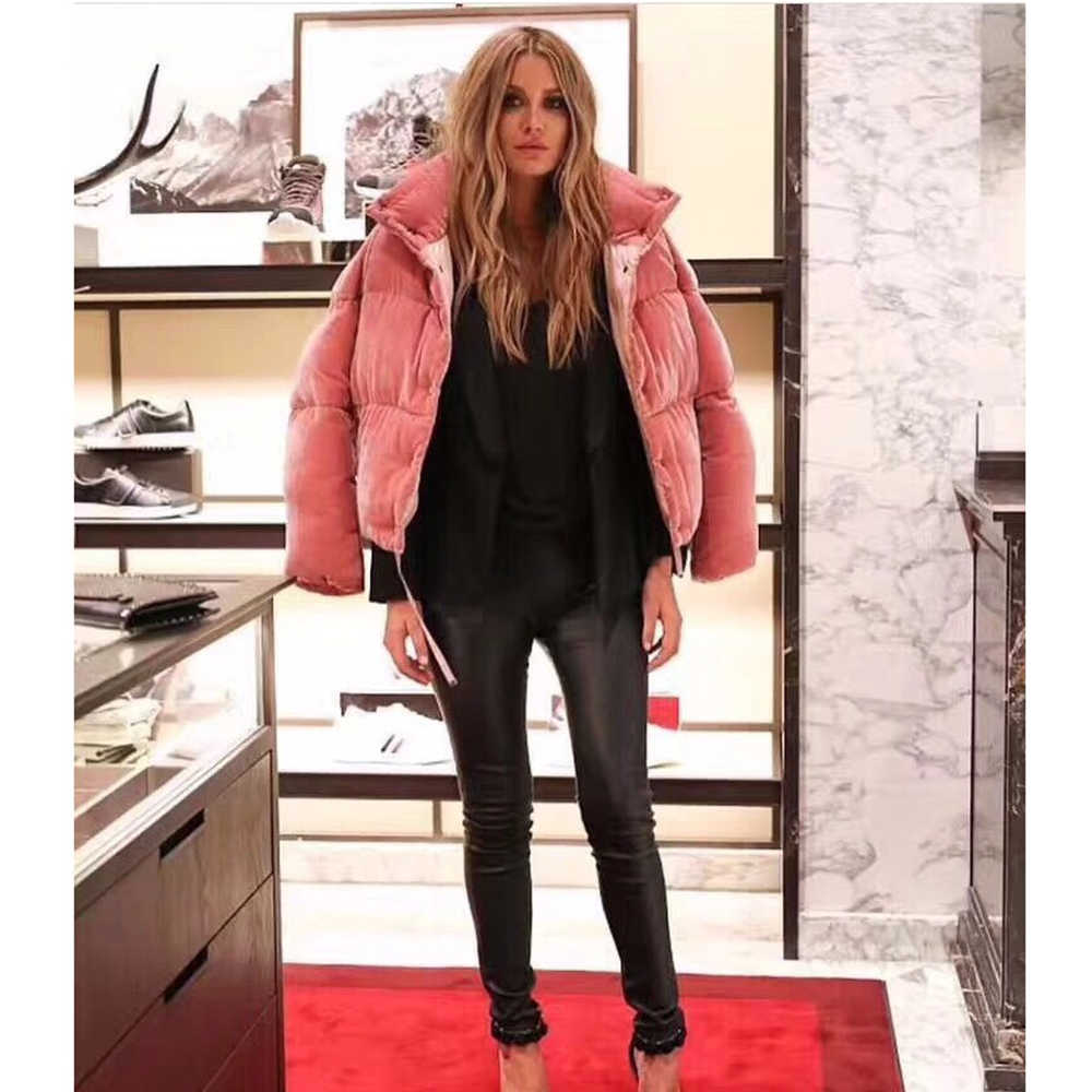 JAZZEVAR 2019 Новинка зимняя куртка женская толстая куртка-пуховик 90% бархатные мини-парки розовое милое пальто милая теплая верхняя одежда для девочек