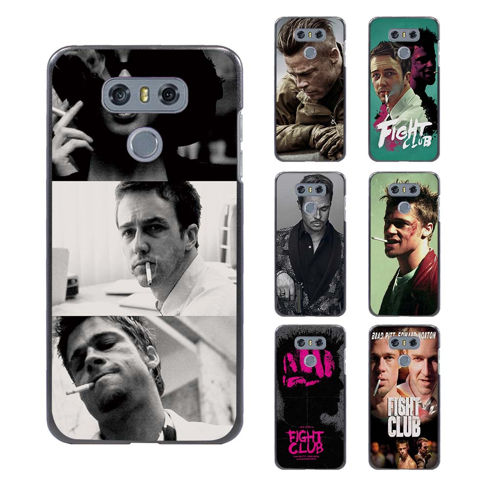 Design poster k3 - Brad Pitt Fight Club Poster Design Hard Black Case For Lg G6 G5 G4 G3 V20 V10 K8 K4 K3 2017 Lv5 K10 2017 Lg Stylus3