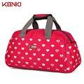 Unisex Impermeable impresión del corazón de Las Mujeres bolsas para mujeres Bolsos ocasionales bolsa de nylon ocasional bolsa de viaje bolsa viagem de asas Femenina