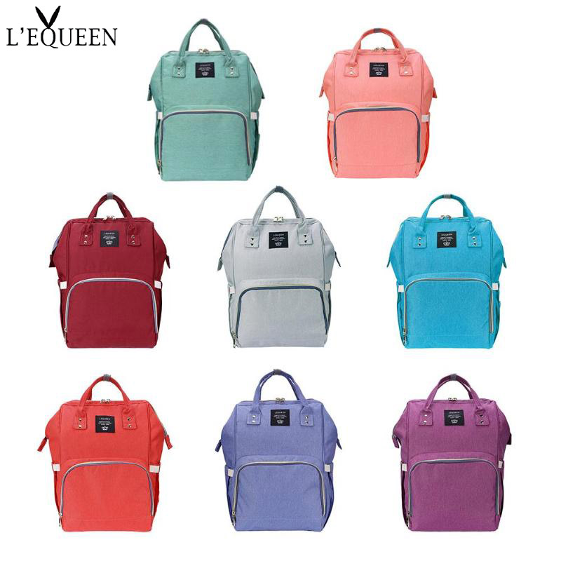 LEQUEEN Mommy Backpack Diaper Bags Waterproof Large Capacity Casual Bag Backpack Designer Nursing Bag For Baby Care Diaper BagLEQUEEN Mommy Backpack Diaper Bags Waterproof Large Capacity Casual Bag Backpack Designer Nursing Bag For Baby Care Diaper Bag