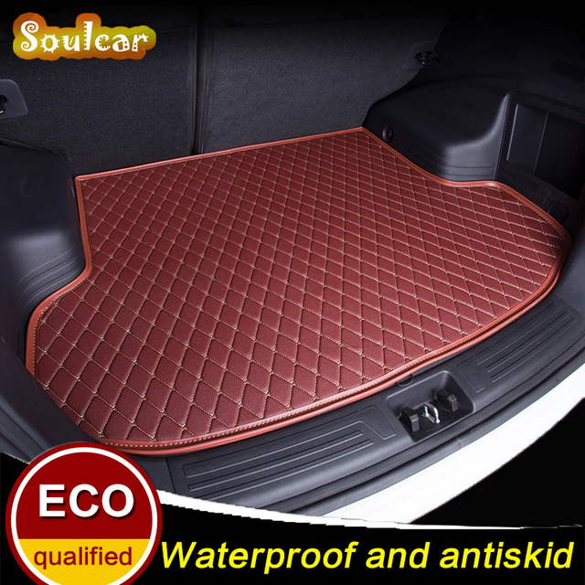 Leather Rear Trunk Cover Cargo Liner Trunk Tray Floor Mats For Bmw