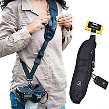 New Portable Shoulder Camera Strap for DSLR Digital SLR Camera Canon Nikon Sonys Quick Rapid camera accessories Neck Strap Belt focus f 1 quick rapid carry speed soft pro shoulder sling belt neck strap for camera slr dslr black free shipping