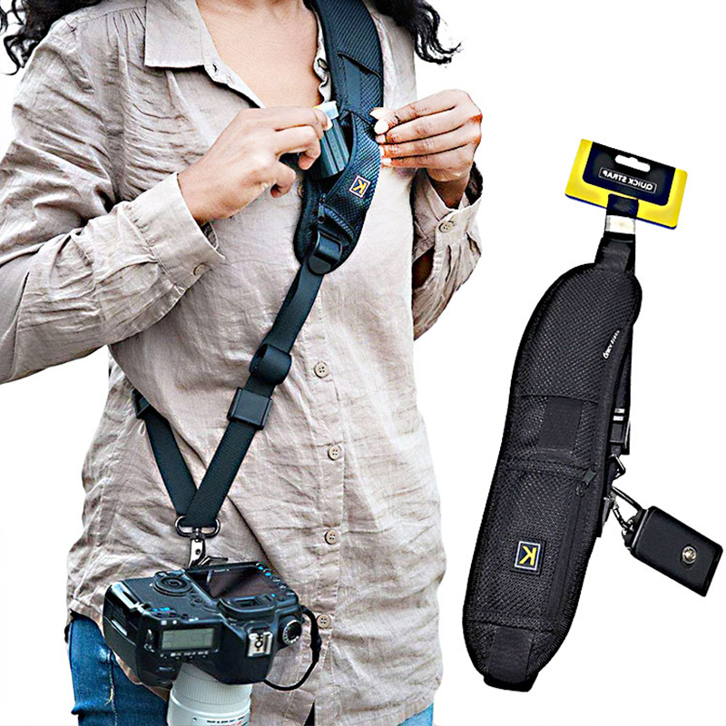 New Portable Shoulder Camera Strap for DSLR Digital SLR Camera Canon Nikon Sonys Quick Rapid camera accessories Neck Strap Belt image