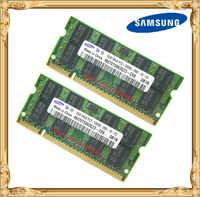 Samsung Memoria Laptop 4 GB 2x2 GB 667 MHz PC2-5300 DDR2 RAM Notebook 4G 667 5300 S 2G-pin SO-DIMM Spedizione Gratuita