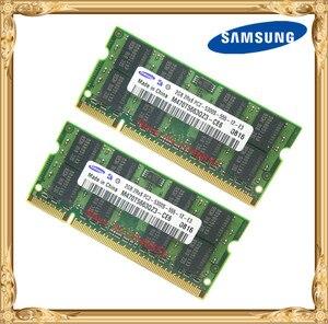 Image 1 - Samsung memória ram, laptop 4gb 2x2gb 667mhz PC2 5300 ddr2 memória ram notebook 4g 667 5300s 2g 200 pin SO DIMM frete grátis