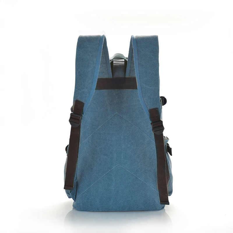 אופנה גדול קיבולת בד גברים תרמיל נסיעות בציר גברים מחשב נייד תרמיל 15 inch זכר תיקי בית ספר לבני נוער 1162