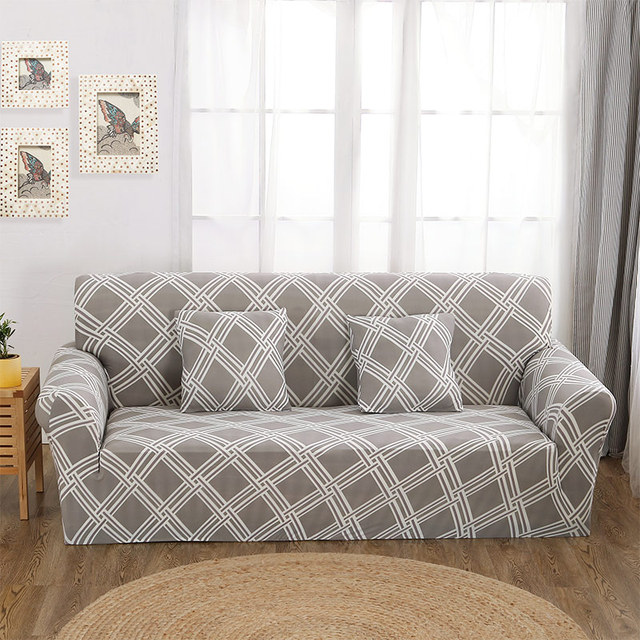 Stretchy Sectional Slipcovers Chair Loveseat Sofa Cover for Living ...