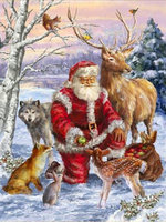 Diamond Embroidery Christmas Picture Round Diamond Puzzle Diy 5d Diamond Painting Cross Stitch Santa Claus Deer