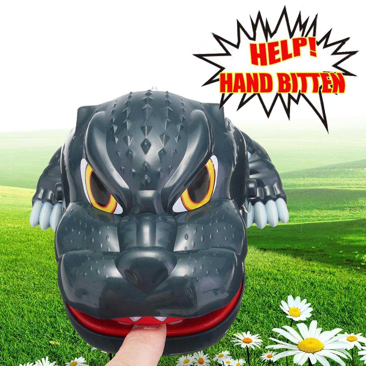 divertido terror grande boca mordida dinosaurio dedo tricky juguete de juegos para el padrehijo