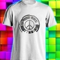 OKOUFEN Shirt Design Website Crew Neck Metal Gear Solid Peace Walker Logo White Black S M