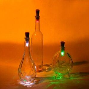 Image 2 - 1pc butelka wina z oświetleniem LED lampka nocna magiczny korek w kształcie USB akumulator korek lampa na czapkę dekoracje świąteczne kreatywny romantyczny biały