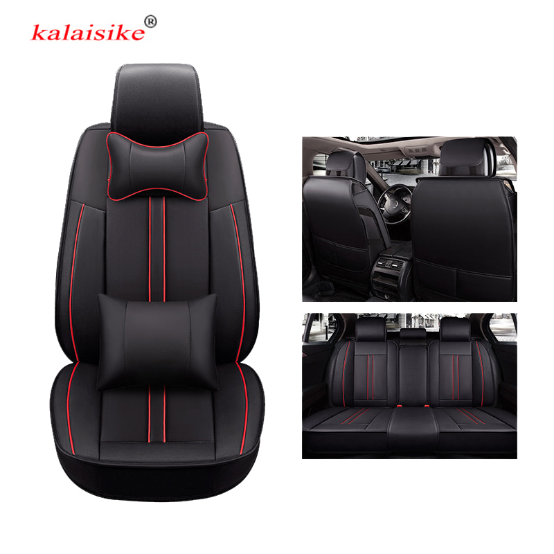 kalaisike leather universal car seat covers for Nissan all models qashqai note juke almera x-trail leaf teana tiida altima