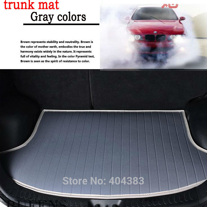high quality Custom fit car trunk mat for Volvo C30 S40 S60L S80L V40 V60 XC60 XC90 3D car styling carpet cargo liner 3d car styling custom fit car trunk mat all weather tray carpet cargo liner for honda odyssey 2015 2016 rear area waterproof