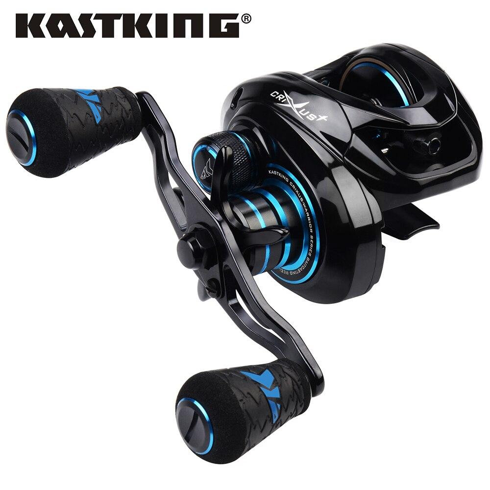 Рыболовная катушка KastKing Crixus для заброса приманки, Магнитная Тормозная система, 7 + 1 шарикоподшипник, 8 кг, фрикцион 206 г, катушка для заброса п...