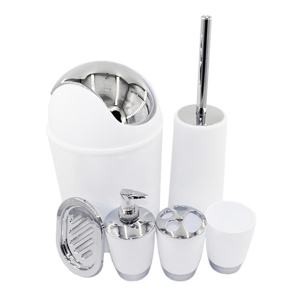 Bio salle de bain 6 pièces ensemble PP poubelle toilette brosse & support porte-papier soin propre distributeur savon Bar tasse salle de bain accessoires