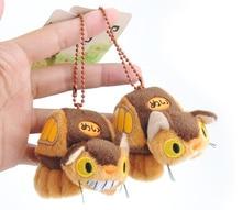Hayao Miyazaki Anime Totoro Bus Dolls Plush Toys Kawaii My Neighbour Totoro Cat Peluche Pendant Action Figure Toys 8cm 1pcs