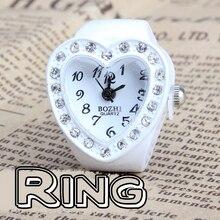 heart type girls manmade stone rhinestone jewellery finger ring watch kqs